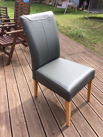 Krzesła do jadalni skórzane nowe 8 sztuk
