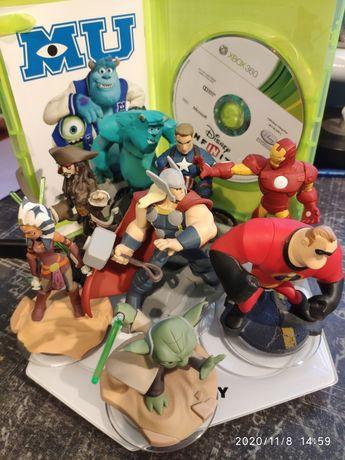 Disney Infinity 3.0 Xbox 360, gra, 3 światy, 8 figurek.