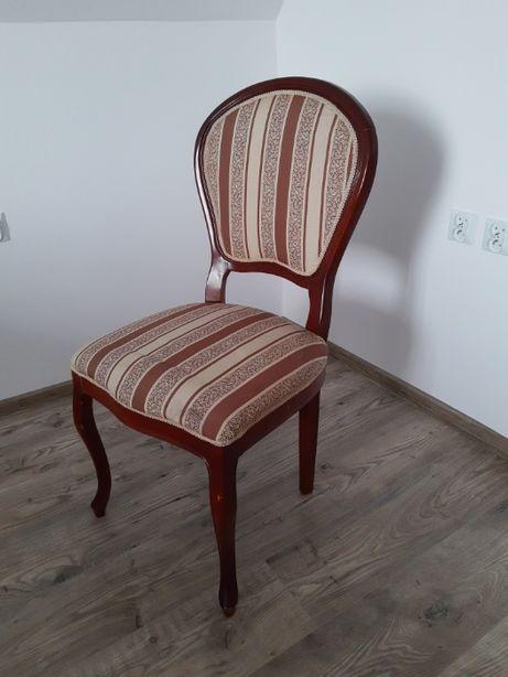 Krzesło stylowe w paski, fotel stylowy, stylizowany