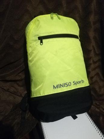 Рюкзак спортивный минисо sport miniso с отделением для обуви Срочно