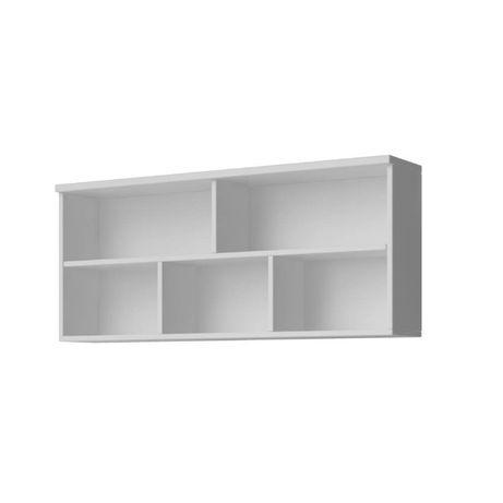 Biała półka wisząca, ścienna na książki 110 cm - Dostawa za darmo