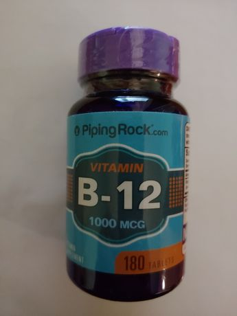 Витамин B12 1000mcg PipingRock, 180табл. Бад