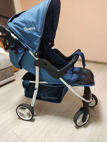 Прогулянкова коляска Carrello Quattro Navy Blue