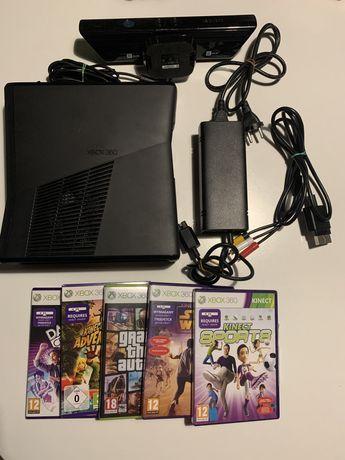 Xbox 360 + Kinect + 5 gier