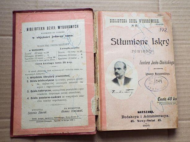 """Teodor Jeske-Choiński - """"Stłumione Iskry"""""""