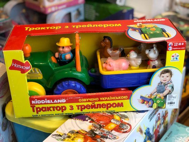Игрушка на колесах - Трактор с трейлером и фермера украинский русский