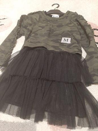 Komplet sukienka i bluza 134-140 MałaMi