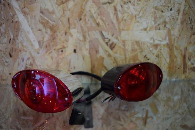 Farol mota CAT EYE luz presença,stop com luz matrícula chopper cafe