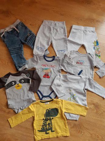 Body, spodnie, bluzeczki dla chłopczyka r. 74cm TYLKO 7zł za szt.!