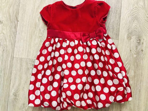 Нарядные праздничные платья в гошек на 1-2 и 2-3 года Next HM  Zara