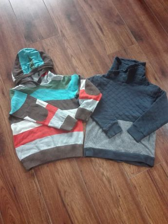 Sweterek i bluza rozm 122 i 116