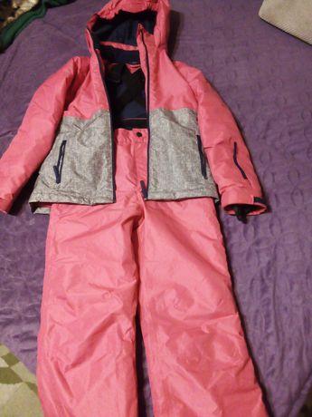 Kombinezon zimowy-komplet dziewczynka 146-152