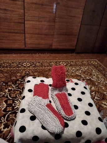 носки тёплые вязаные