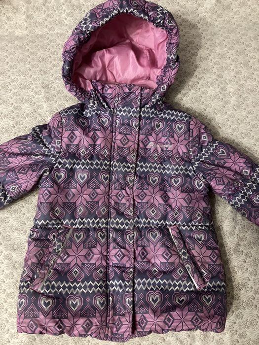 Куртка зимняя на девочку 104 Новомосковск - изображение 1