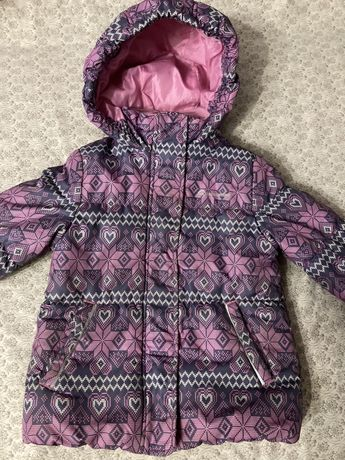 Куртка зимняя на девочку 104