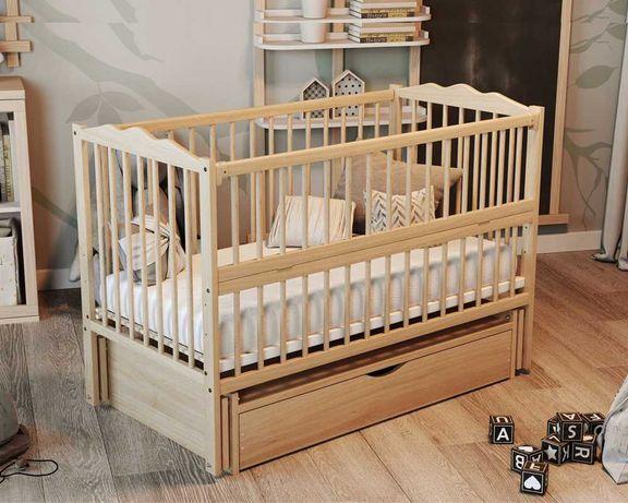 Новая кроватка на шарнирах с закрытым ящиком