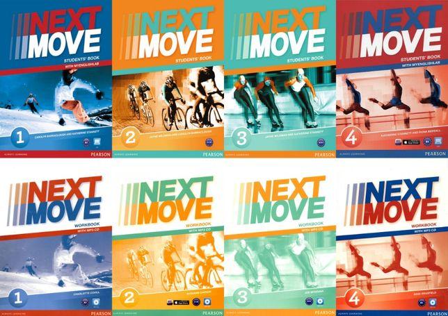 Next Move 1, 2, 3, 4 комплект: Student's Book + Workbook + CD