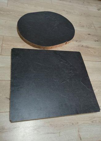 2 куска столешницы, темносерого цвета, под мрамор, столешница