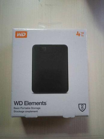 "Внешний жесткий диск WD 2.5"" USB 3.0 4TB (WDBU6Y0040BBK-WESN)"