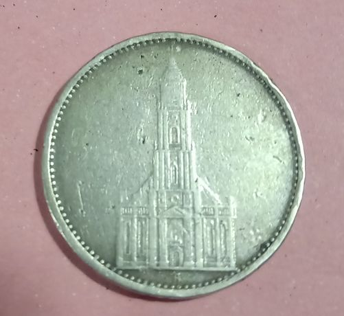 5 марок 1934. Цена металла!