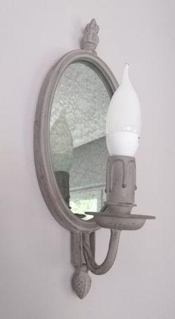 kinkiet ścienny z lustrem