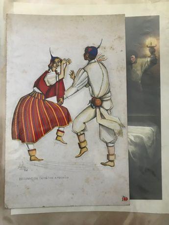 Postal Danças Portuguesa TAP