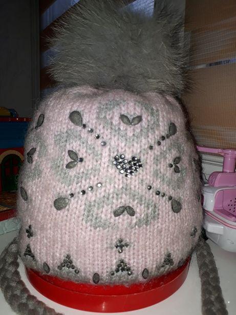 Зимняя шапка шапочка для девочки TavittaKids.