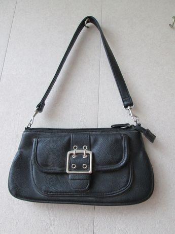 Черная женская сумочка из винила