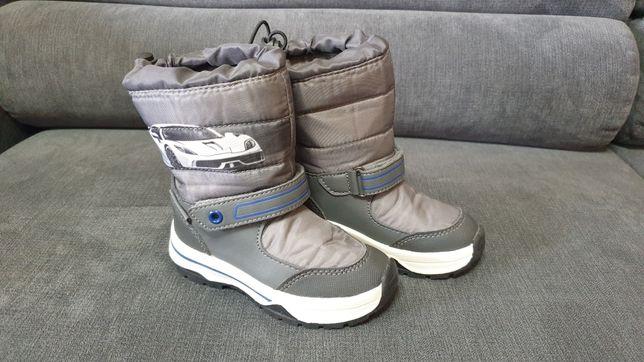 Buty zimowe śniegowce 23 szare