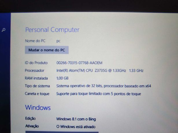Tablet Toshiba Encore Mini WT7 - 90% Funcional