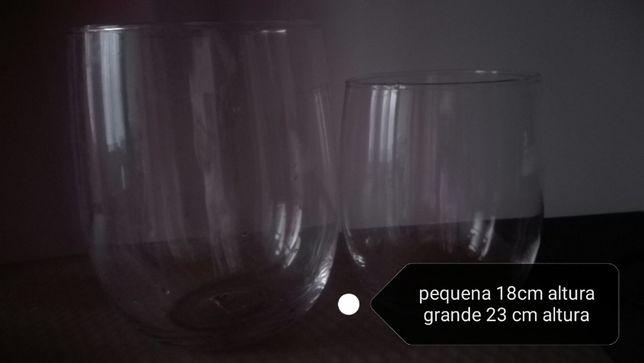 Potes vidro decorativos Espaço Casa
