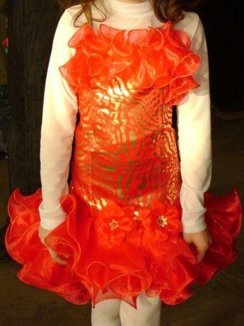 Шикарное бальное выпускное платье пышное на выпускной утренник свадьбу