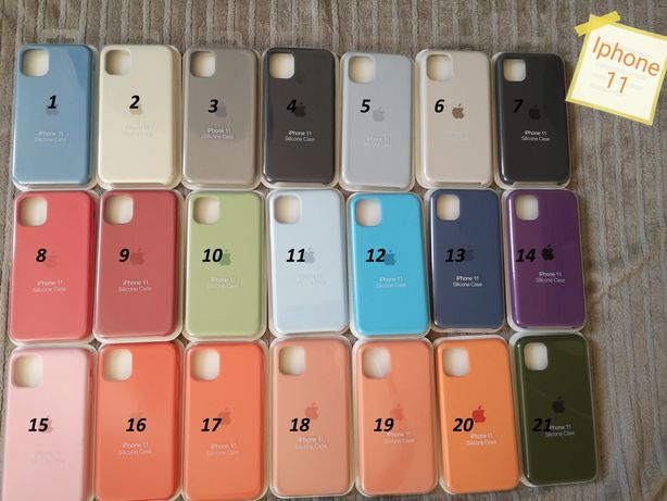 Silicone case Iphone 11 11 pro 11 pro max X Xr 7 8 SE 7+ 8+ plus