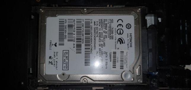 """Dysk twardy 2.5"""" 500GB 7k500-500 Hitachi i zlacze do laptopa HP"""