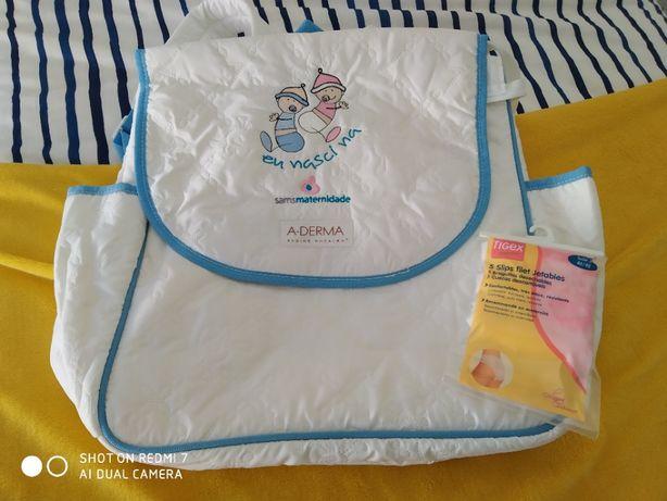 Mala - Mochila maternidade 0,48X0,40 c/oferta 3 cueca descartável