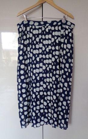 spódnica plisa vintage w kropki 42/44