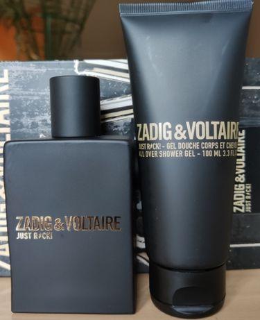 Komplet woda toaletowa Zadig &Voltaire Just Rock 50ml + żel 100 ml