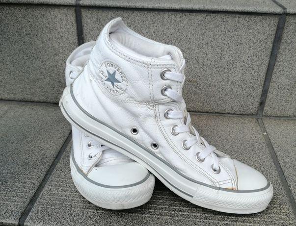 Okazja Converse rozmiar 38 Białe Skórzane Sneakersy Unisex CT