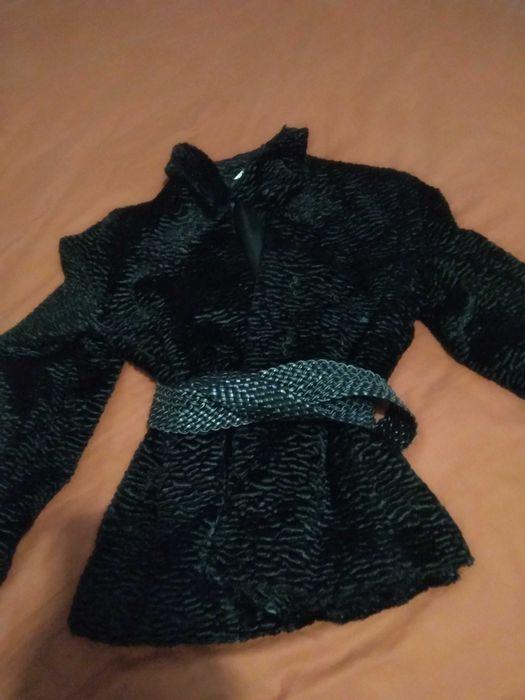 Czarne krótkie sztuczne futerko XS/S/M Olsztyn - image 1
