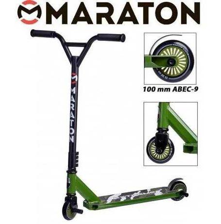 СамокатТрюковый  Maraton Extreme PU 100 мм АВЕС-9 Chrome с Пегами 2 шт