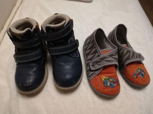 Buty zimowe, pantofle r. 25