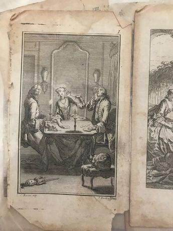 Gravuras livros históricos ingleses (muito antigo)