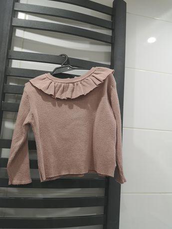 Sweterek Zara falbanką