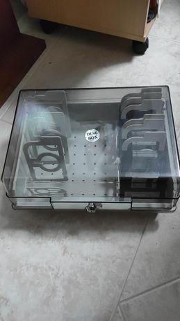 Caixa de disquete disquetes plástica Imation Disk box