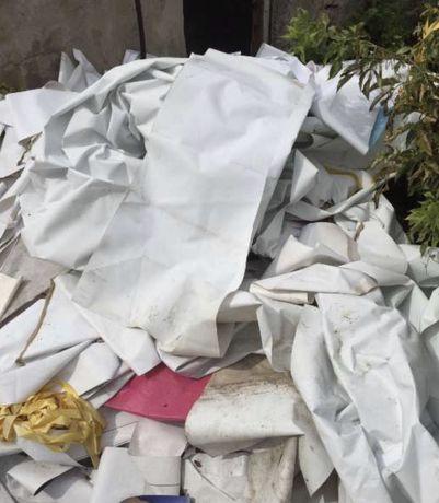 Ścinki plandek, tkanin, folii rolniczych, i inne odpadki