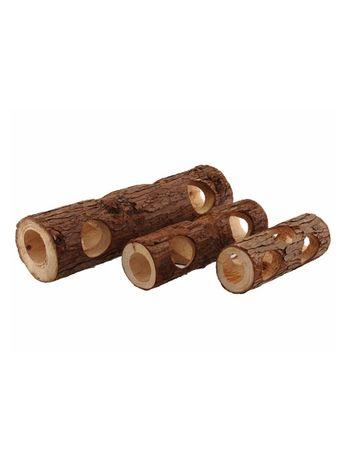 Small animals JEWEL drewniany tunel z korą rózne rozmiary