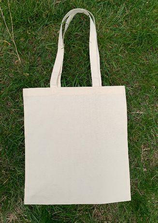 Torba bawełniana,eko torba na zakupy w kolorze naturalnym 140 g