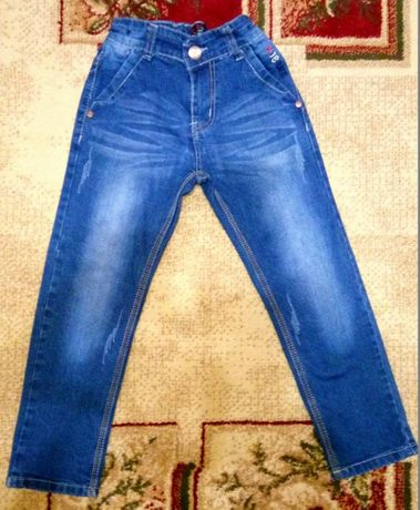 Джинсы 116-122р.+ Джинсовые шорты в подарок