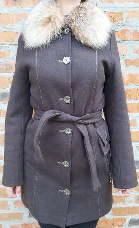 Пальто женское (зима, воротник лиса)