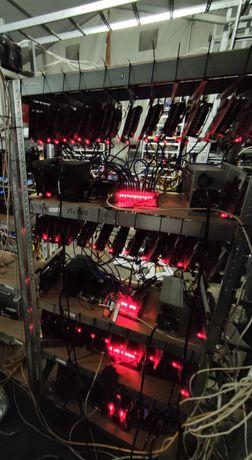 Zestaw Koparek Kryptowalut 63xP106-100 (GTX 1060) 6GB 1450 MH/S ETH